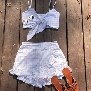 NWOT Skort and Crop Set